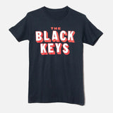 THE BLACK KEYS 3-D LOGO T-SHIRT INDIGO FRONT