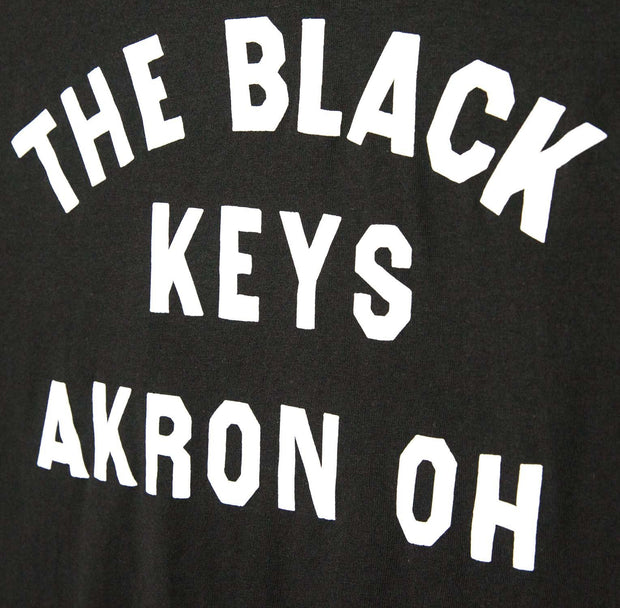 The Black Keys Akron Ohio T-shirt Black Detail