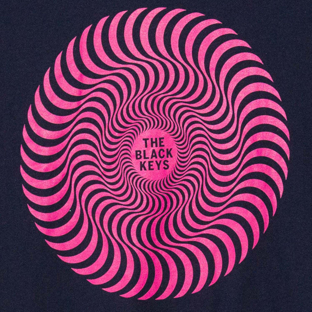 THE BLACK KEYS SPIRAL LOGO T-SHIRT NAVY DETAIL