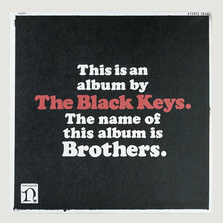 The Black Keys Brothers CD Vinyl Record Front Cover
