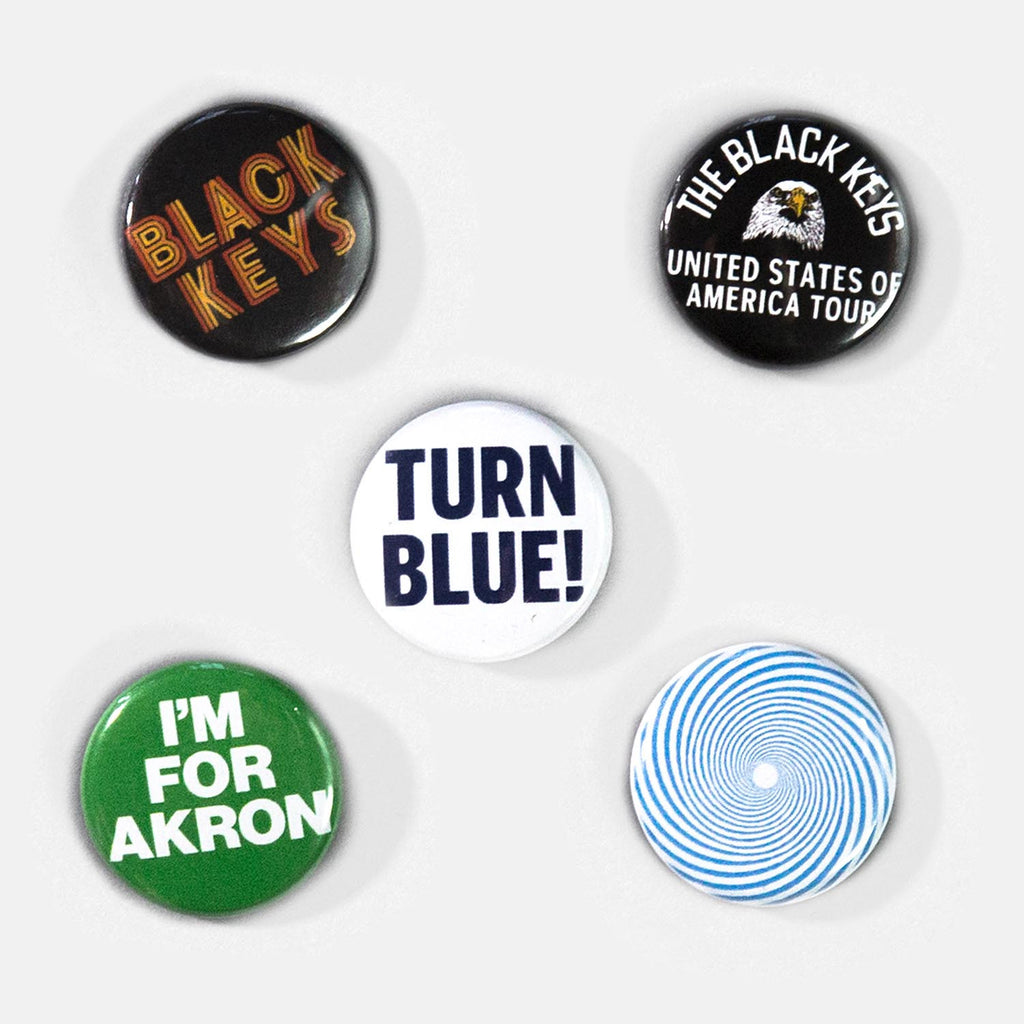 THE BLACK KEYS TURN BLUE BUTTON SET