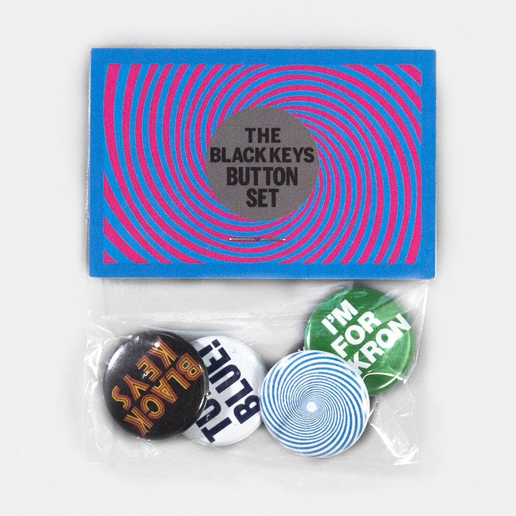 THE BLACK KEYS TURN BLUE BUTTON SET PACKAGE