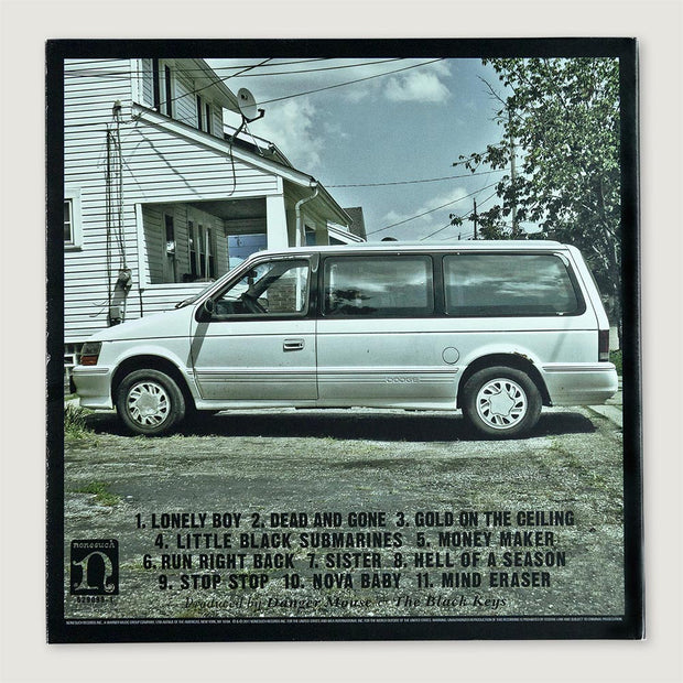 The Black Keys El Camino CD Vinyl Record Back Cover