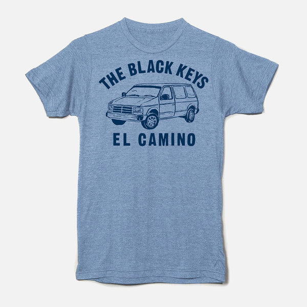 EL CAMINO VAN T-SHIRT BLUE HEATHER