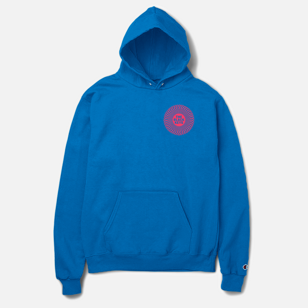 SPIRAL LOGO CHAMPION HOODIE ROYAL - The Black Keys