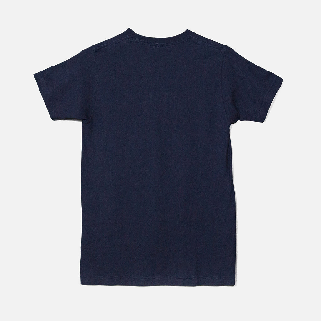 THE BLACK KEYS SPIRAL LOGO T-SHIRT NAVY BACK
