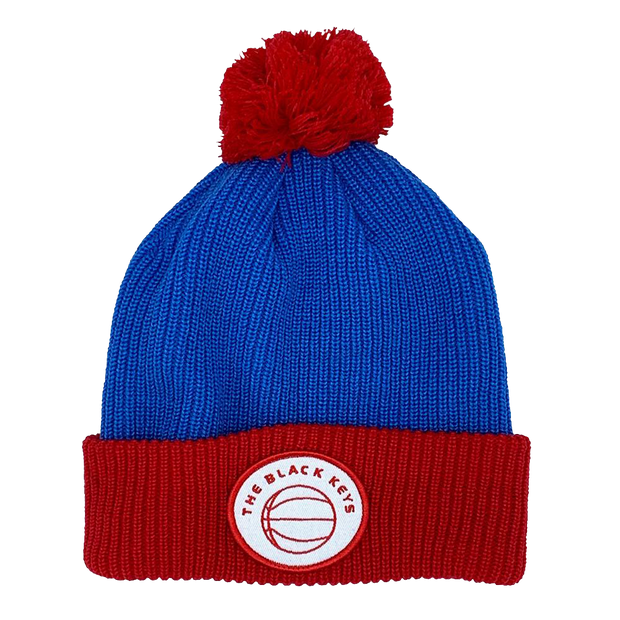 TBK BASKETBALL BEANIE - BLUE AND RED