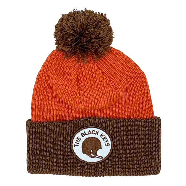 TBK BEANIE - ORANGE AND BROWN