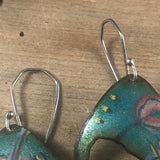 a•vo  earrings- turquoise green, small