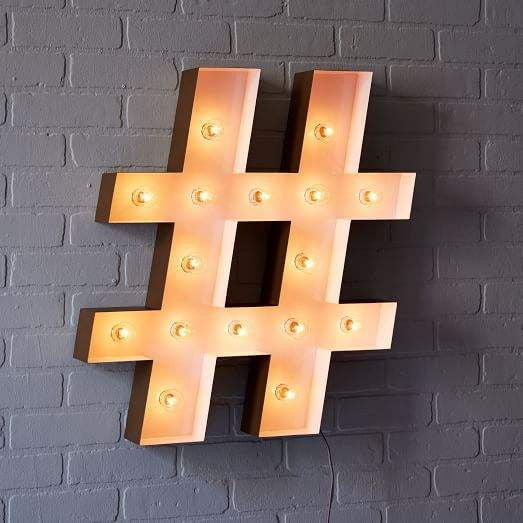 Hashtag Light By West ELM Brooklyn