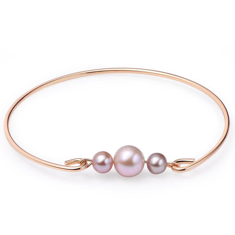 Bangle Cultured Freshwater Pearls Gold Plated