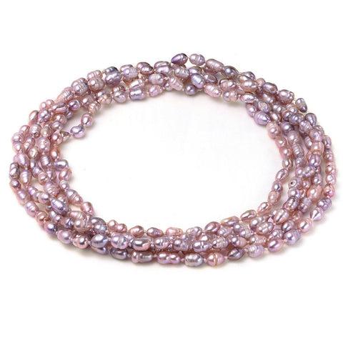 "Lavender 6-7mm 100"" Necklace Cultured Freshwater Pearl"