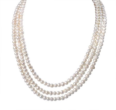 white 6-7mm necklace freshwater pearl