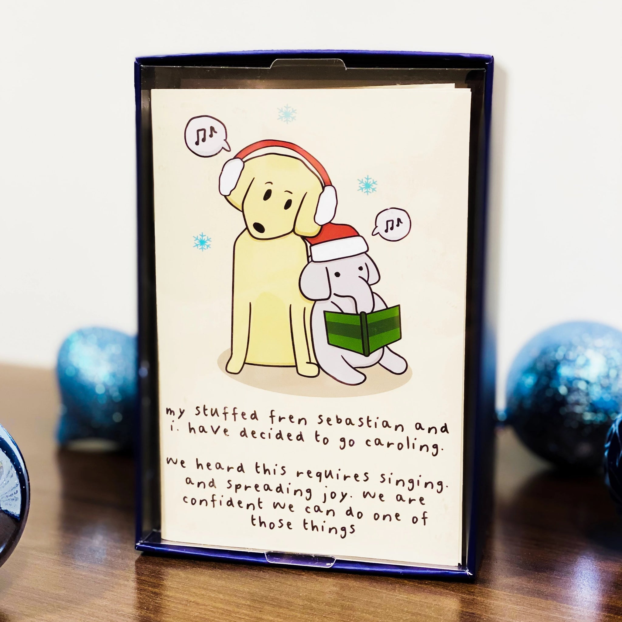 Dog Feelings Holiday Card 20-Pack