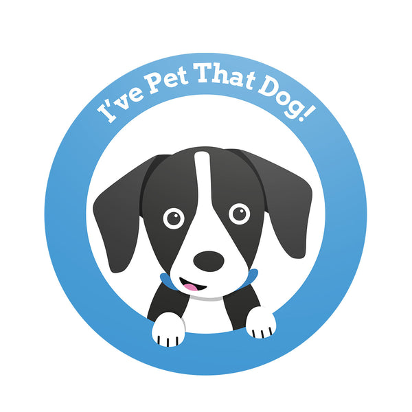 I've Pet That Dog Logo Sticker