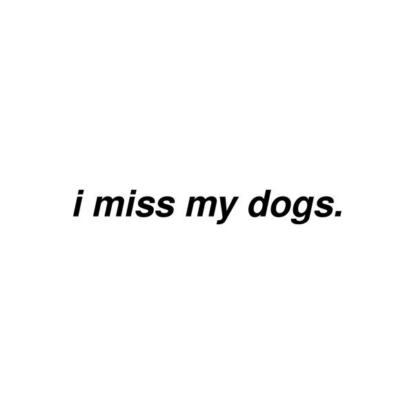 I Miss My Dogs Vinyl Decal