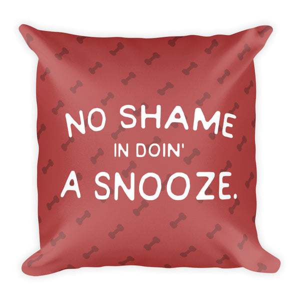 Snooze Throw Pillow