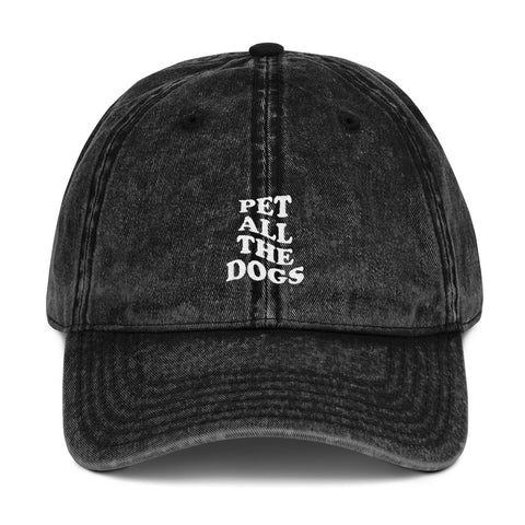 Pet All The Dogs Vintage Hat