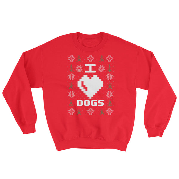 I <3 Dogs Christmas Sweater