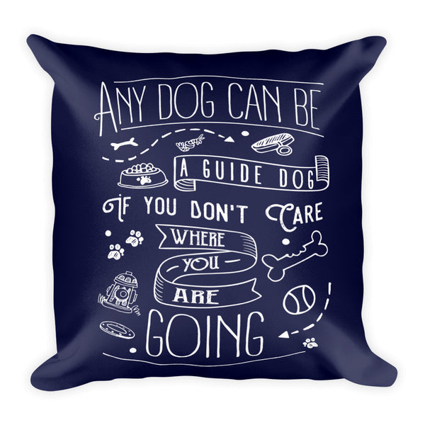 Guide Dog Throw Pillow