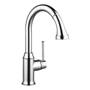Hansgrohe Talis C 2-Spray HighArc Kitchen Faucet, Pull-Down, in Chrome - Chariotwholesale