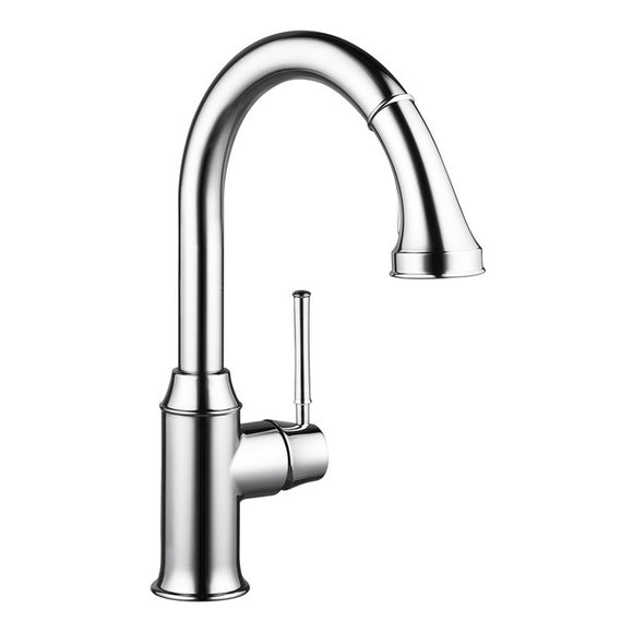 Hansgrohe Talis C 2-Spray HighArc Kitchen Faucet, Pull-Down, in Chrome - SpeedySinks