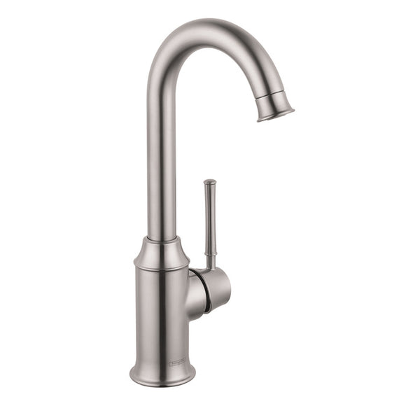 Hansgrohe Talis C Single Handle Bar Faucet in Stainless Steel - Chariotwholesale