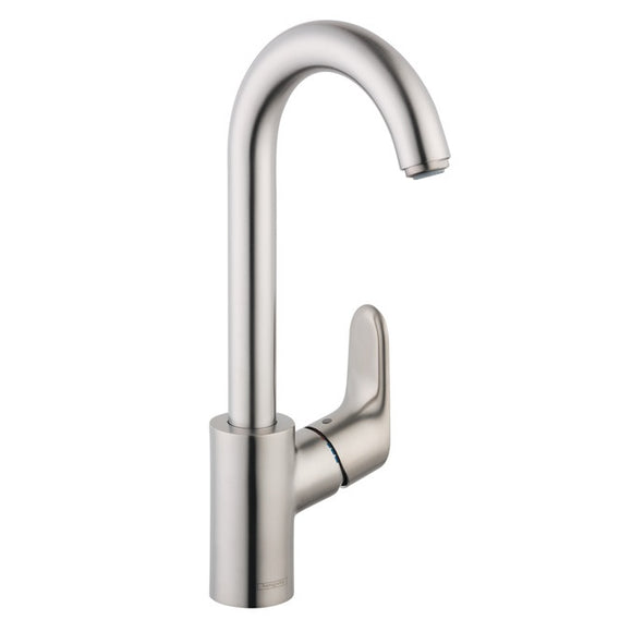 Hansgrohe Focus Single Handle Bar Faucet in Steel Optic