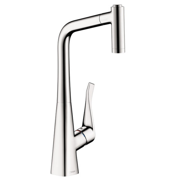 Hansgrohe Metris 2-Spray Pull-Out Prep Kitchen Faucet in Chrome