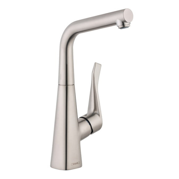 Hansgrohe Metris Single Handle Bar Faucet in Stainless Steel