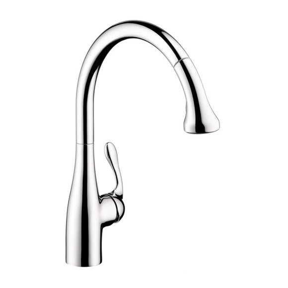 Hansgrohe Allegro E Gourmet 2-Spray SemiPro Kitchen Faucet, Pull-Down, in Chrome - SpeedySinks