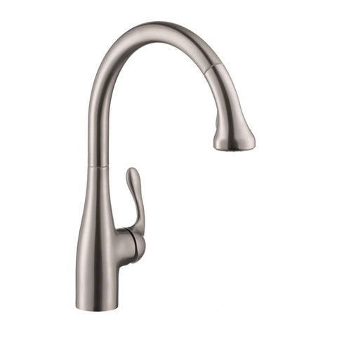Hansgrohe Allegro E Gourmet 2-Spray SemiPro Kitchen Faucet, Pull-Down, in Steel Optic