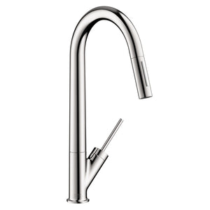 Hansgrohe AXOR 2-Spray HighArc Kitchen Faucet, Pull-Down, in Chrome