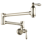 Delta Traditional Wall Mount Pot Filler in Arctic Stainless - Chariotwholesale