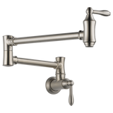 Delta Traditional Wall Mount Pot Filler in Arctic Stainless