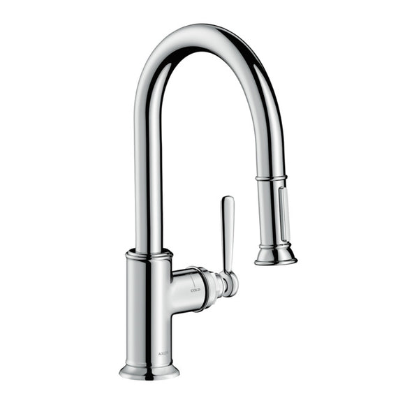 Hansgrohe AXOR Montreux 2-Spray Prep Kitchen Faucet, Pull-Down, in Chrome