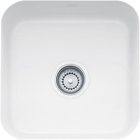Franke Cisterna CCK110-15WH Fireclay Undermount Bar Sink in White