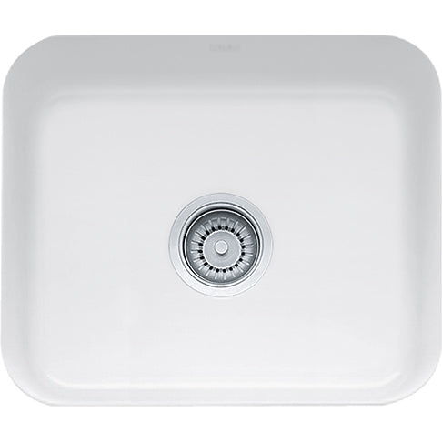 Franke Cisterna CCK110-19WH Fireclay Undermount Bar Sink in White