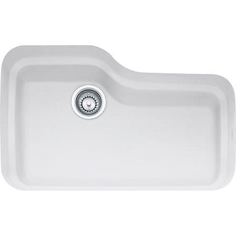 Franke Orca ORK110MW Fireclay Undermount Kitchen Sink in Matte White