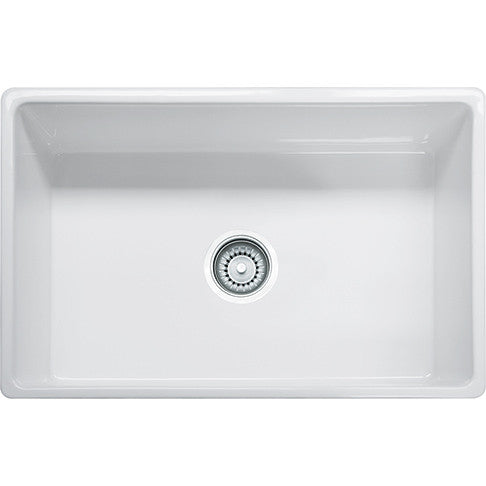 Franke FHK710-30 Fireclay Farm House Apron Front Kitchen Sink in White - SpeedySinks
