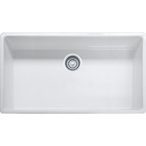 Franke FHK710-36 Fireclay Farm House Apron Front Kitchen Sink in White - SpeedySinks