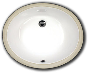 Oasis 2208 White Very Small Oval Bathroom Porcelain Sink - SpeedySinks