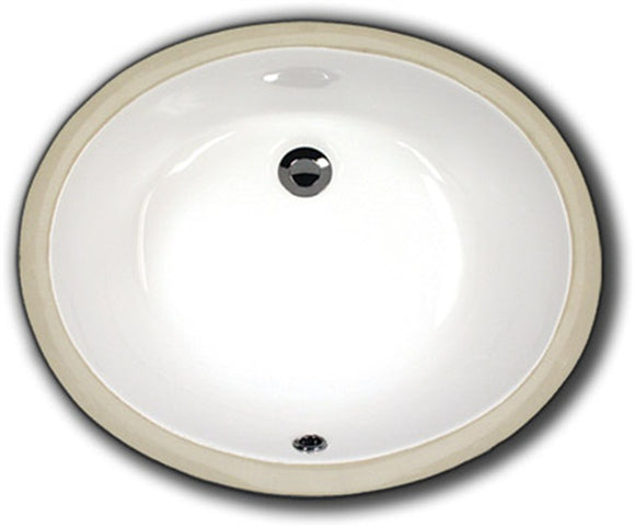 Oasis 2208 White Very Small Oval Bathroom Porcelain Sink