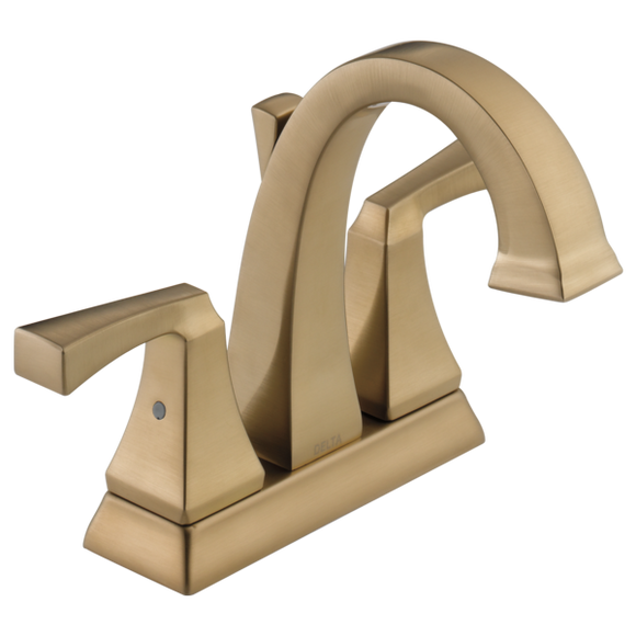 Delta Dryden Two Handle Centerset Lavatory Faucet in Champagne Bronze