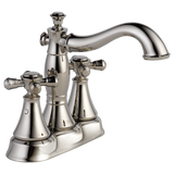 Delta Cassidy Two Handle Centerset Lavatory Faucet in Chrome