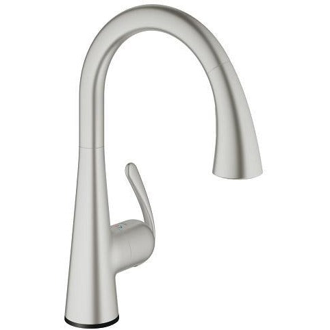 Grohe 30205DC0 Supersteel Ladylux Touch Electronic Single handle Kitchen Faucet - Chariotwholesale
