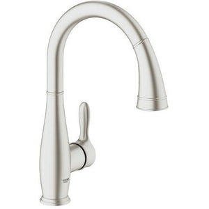 "Grohe 30213DC0 Parkfield Supersteel Single-lever sink mixer 1/2"" Kitchen Faucet - SpeedySinks"