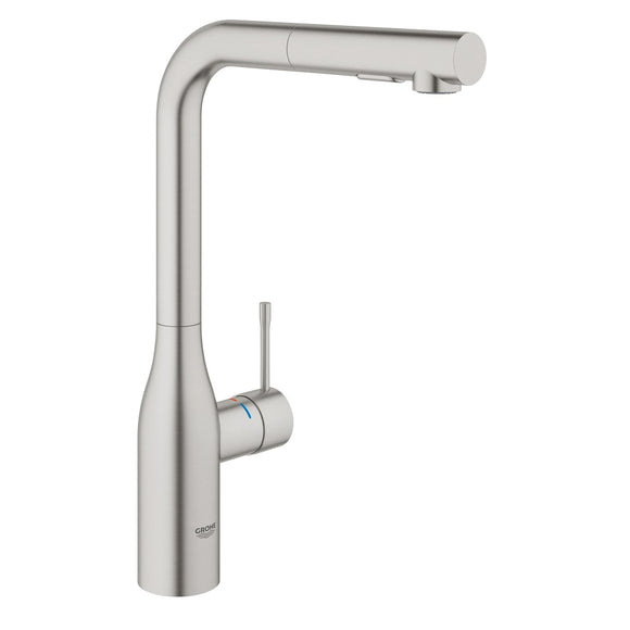Grohe Essence Single-Handle Kitchen Faucet in SuperSteel InfinityFinish - SpeedySinks
