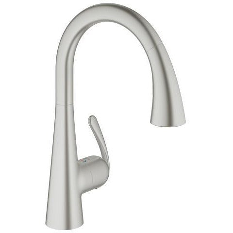 "Grohe 32298DC1 Ladylux Supersteel Single-lever sink mixer 1/2"" Kitchen Faucet - SpeedySinks"