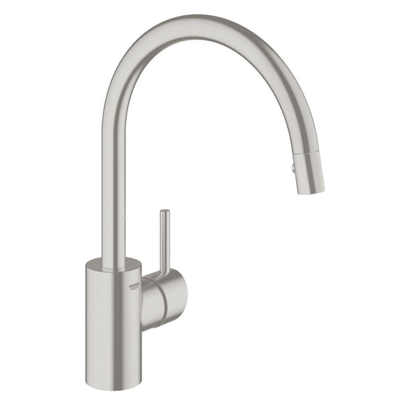 Grohe Concetto Concetto Single-Handle Kitchen Faucet in SuperSteel InfinityFinish - Chariotwholesale